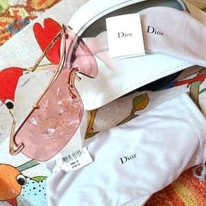 Dior Pink and Gold Sunglasses